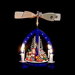 1-stöckige Pyramide Weihnachtszug - 27 cm