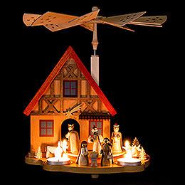 1-Tier Table Pyramid House Nativity - 29 cm / 11.4 inch