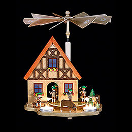 Tea Candle Pyramid Bavaria - 29 cm / 11.4 inch