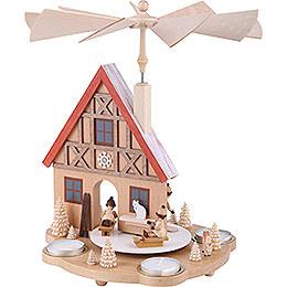 1-Tier Pyramid - Winter Children - 29 cm / 11.4 inch