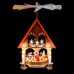2-Tier Pyramid - House Giving Scene - 36 cm / 14.2 inch