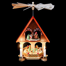2-Tier Pyramid - House Fairy Tale - 36 cm / 14.2 inch