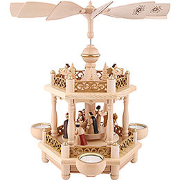 2-Tier Pyramid - 'Nativity' - 35 cm / 13.8 inch