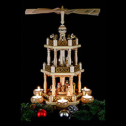 3-Tier Pyramid - 'Nativity' - 46 cm / 18.1 inch