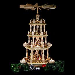4-stöckige Pyramide 'Christi Geburt' - 55 cm