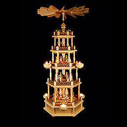 5-stöckige Pyramide Christi Geburt - 74 cm