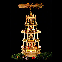 5-Tier Pyramid - Nativity - 74 cm / 30 inch