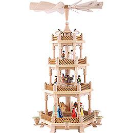 4-stöckige Pyramide Christi Geburt bunt - 54 cm