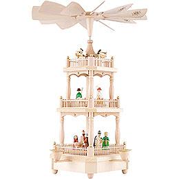 3-stöckige Pyramide Christi Geburt bunt - 45 cm