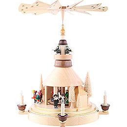 2-stöckige Pyramide Seiffener Kirche - 53 cm
