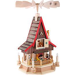2-stöckiges Adventshaus Bärenhaus elektrisch von Richard Glässer - 53 cm
