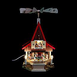 2-stöckiges Adventshaus Engelsbäckerei elektrisch von Richard Glässer - 53 cm