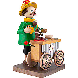 Smoker - Organ Grinder with Music Box - 17 cm / 6.7 inch