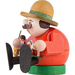 Räuchermännchen mini sitzend - Spielzeugverkäufer - 8 cm
