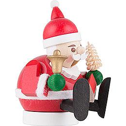 Räuchermännchen mini sitzend - Weihnachtsmann - 9 cm