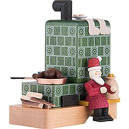 Rauchofen mit Santa - 13 cm