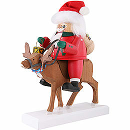 Nussknacker Santa auf Rentier - 26 cm