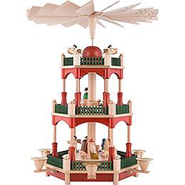 3-stöckige Pyramide Christi Geburt - 39 cm
