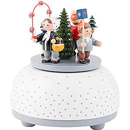 Spieldose Winterkinder - 12 cm