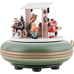Spieldose Weihnachtsmarkt - 16 cm