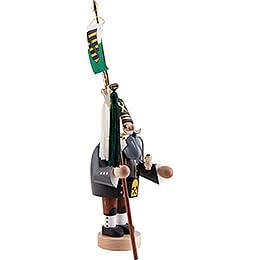 Räuchermännchen Bergmann mit Schellenbaum - 31 cm