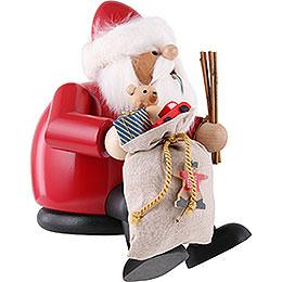 Räuchermännchen Weihnachtsmann - Kantenhocker - 26 cm