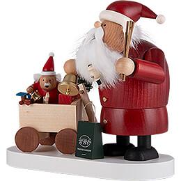 Räuchermännchen Weihnachtsmann mit Kind - 21 cm