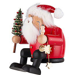 Smoker - Santa - Edge Stool - 16 cm / 6.3 inch