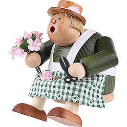 Räuchermännchen Floristin - Kantenhocker - 16 cm