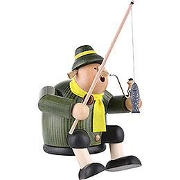 Räuchermännchen Angler - Kantenhocker - 18 cm