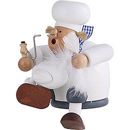 Räuchermännchen Koch mit Gans - Kantenhocker - 17 cm