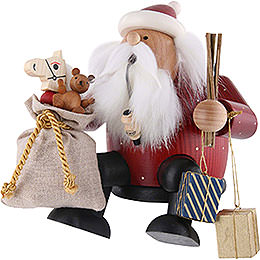 Smoker - Santa Claus - Edge Stool - 16 cm / 6 inch