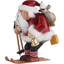 Smoker - Santa with Ski - 20 cm / 7.9 inch