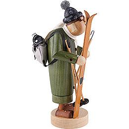 Räuchermännchen Skifahrer - 27 cm