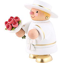 Räuchermännchen Braut (ohne Rauchfunktion) - 10 cm