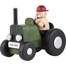 Räuchermännchen Traktorfahrer mini - 10 cm