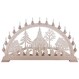 Candle Arch - Church of Seiffen - 84x49 cm/33x19 inch