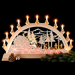 Candle Arch - Forest House - 65x40 cm / 26x16 inch