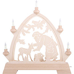 Candle Arch - Gotic Santa Claus with Deer 42x42,5 cm / 2 inch