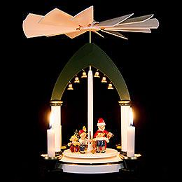 1-stöckige Pyramide Weihnachtsfest - 30 cm