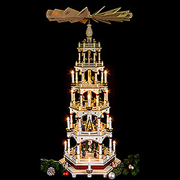 6-stöckige - Pyramide Stille Nacht - 106 cm