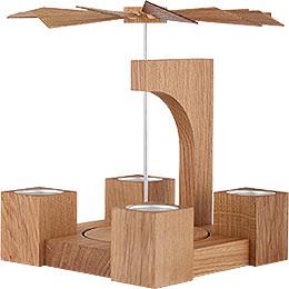 1-stöckige Pyramide Eiche natur modern ohne Bestückung - 24 cm
