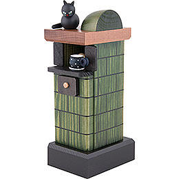 Smoker - Tiled Stove Green - 20 cm/7.8 inch