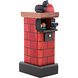 Smoker - Tiled Stove Red - 20 cm/7.8 inch