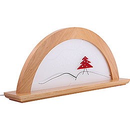 Candle Arch - Red Fir Tree with Glas - 79x14x35 cm / 12x2x6 inch