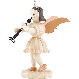 Angel Short Skirt with Clarinet, Natural - 6,6 cm / 2.6 inch