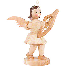 Shortskirt Angel Natural, with Lyre - 20 cm / 7.8 inch