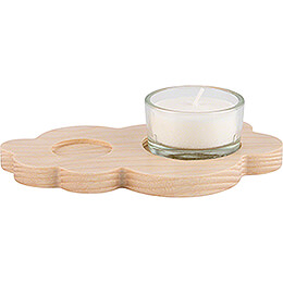Tea Light Holder Cloud - Natural - without Angel - 13x8cm / 5.1x3.1 inch