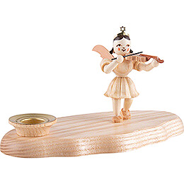 Cloud Natural with Musician Angel - 13x7x8 cm / 5.1x2.8x3.1 inch