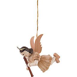 Schwebeengel Blockflöte, natur - 6,6 cm